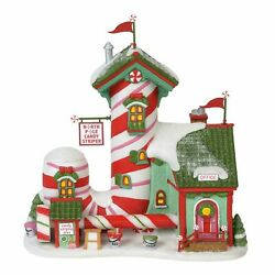 Department 56 North Pole Village Series Candy Striper Lit Animated Building 7...