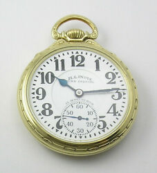 Illinois 16 Size Pocket Watch Bunn Special 60hr Type 3 From 1929-serviced