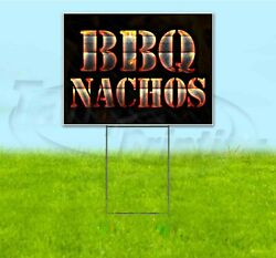 Bbq Nachos 18x24 Yard Sign With Stake Corrugated Bandit Usa Business Grill