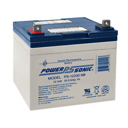 Power-sonic 12v 33ah Sla Replacement Battery For Ford Motor Co. Lgt165