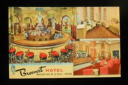 1940s Interiors Crystal Bar Guest Room Lounge Brevoort Hotel Madison Chicago Il