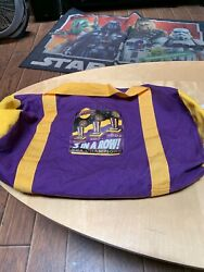 2002 Los Angeles Lakers World Champions 3 In A Row Duffle Gym Bag Kobe Bryant
