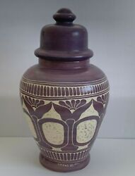 Outstanding Curras Brothers Signed 1985 Ceramic Art Pottery Ginger Jar 17 Tall