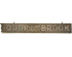 Antique Trade Sign With Glass Marbles Old Wooden Primitive Signage Quarrybrook