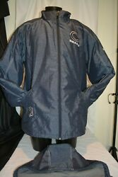 Reebok Nfl Coat Chicago Bears On Field Removable Hood Cold Weather Parka Sz Xl