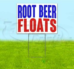 Root Beer Floats 18x24 Yard Sign With Stake Corrugated Bandit Business Drinks