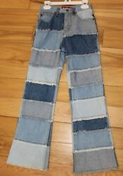 Zana Di Retro Style Jeans Girls 10 Slim - Patched together design - 70s Style