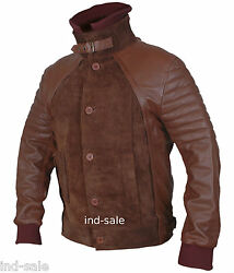Genuine Leather Jacket Custom Made Suede Movie Horns Radcliffe Style All Sizes