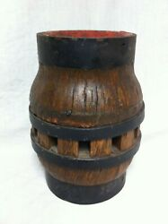 New Old Stock Antique Wooden Wagon Wheel Hub Table Lamp Base Nos Western Farm