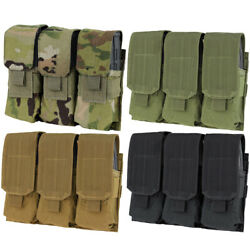 Condor Outdoor Tactical Triple Airsoft Mag Molle Magazine Pouch Ma58