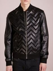 Genuine Leather Jacket Custom Tailor Made All Size Designer Lambskin And Suede