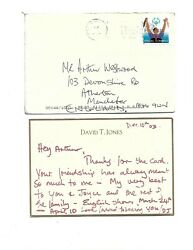 Davy Jones The Monkeessigned Letter Postcard And Daughter Wedding Invitation.
