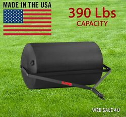 Tow Behind Lawn Roller Yard Grass Care Tractor Attachment Poly Water 390 Lb Usa