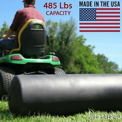 Tow Behind Lawn Roller Yard Grass Care Tractor Attachment Poly Water 485 Lb Usa