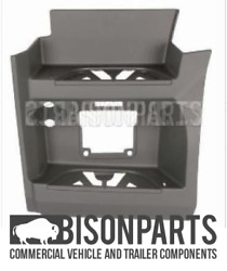 Fits Mercedes Actros Mp4 Grey Lower Twin Step Surround Passenger Side Mer654g