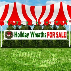 Holiday Wreaths For Sale Advertising Vinyl Banner Flag Sign Large Size Christmas