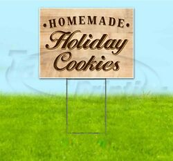 Homemade Holiday Cookies 18x24 Yard Sign With Stake Corrugated Bandit Business
