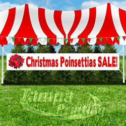 Christmas Poinsettias Sale Advertising Vinyl Banner Flag Sign Large Size Holiday
