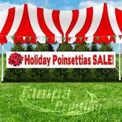 HOLIDAY POINSETTIAS SALE Advertising Vinyl Banner Flag Sign LARGE SIZE CHRISTMAS
