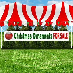 CHRISTMAS ORNAMENTS FOR SALE Advertising Vinyl Banner Flag Sign LARGE HOLIDAYS