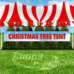 CHRISTMAS TREE TENT Advertising Vinyl Banner Flag Sign LARGE SIZE HOLIDAYS