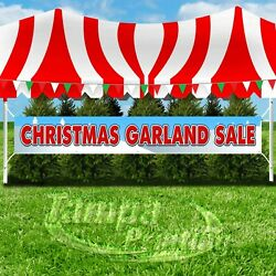 CHRISTMAS GARLAND SALE Advertising Vinyl Banner Flag Sign LARGE SIZE HOLIDAY