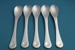 5 Place Oval Soup Spoons Robert Welch Pendulum Stainless Satin Modern 7 3/4