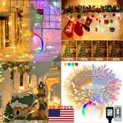 200300 LED String Fairy Lights Clear Party Wedding Xmas Dorm Room Decor Remote