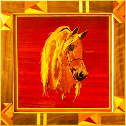 Horse 1.1 Home Decor Modern Eco Gift Wall Wood Panel Marquetry Wooden Handmade