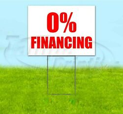 0 Financing 18x24 Yard Sign With Stake Corrugated Bandit Business Usa
