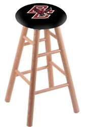 Holland Bar Stool Co. Oak Counter Stool In Natural Finish With Boston College...