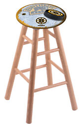 Holland Bar Stool Co. Oak Counter Stool In Natural Finish With Boston Bruins ...