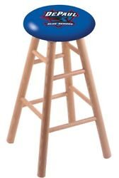 Holland Bar Stool Co. Oak Counter Stool In Natural Finish With Depaul Seat Rc...