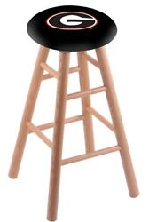 Holland Bar Stool Co. Oak Counter Stool In Natural Finish With Georgia G Se...