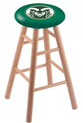 Holland Bar Stool Co. Oak Counter Stool In Natural Finish With Colorado State...