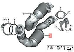 Genuine Bmw Z4 Roadster Exch Catalytic Converter Close To Engine 18307647040