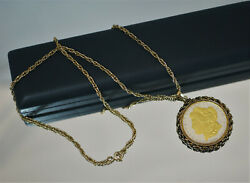 24 Gold Tone Rope Chain Necklace And Gold Accent 1884 Morgan Dollar Pendant A1797