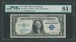 Fr1607 1 1935 Silver Certificate Star Note Pmg 64 Epq Very Choice Unc Wlm9594