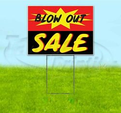Blow Out Sale 18x24 Yard Sign With Stake Corrugated Bandit Business Dealership