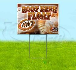 Root Beer Float 18x24 Yard Sign With Stake Corrugated Bandit Usa Business Treat