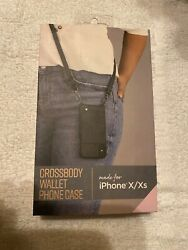 iPhone X Xs Fellowes Crossbody Wallet Phone Case New In Box $14.99