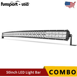 9d Curved 50inch Led Light Bar 700w Spot Flood Combo Driving Bumper Suv 4wd 52''