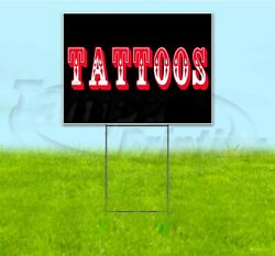 Tattoos 18x24 Yard Sign With Stake Corrugated Bandit Usa Business Body Art