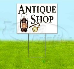 Antique Shop 18x24 Yard Sign With Stake Corrugated Bandit Usa Business Pawn