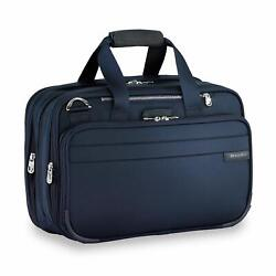 Briggs And Riley Expandable Cabin Bag Overnight Duffle Navy One Size