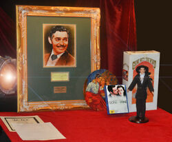 Gone With The Wind Signed Clark Gable Autograph, Plate, Frame, Uacc, Doll, Dvd