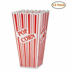 The Beistle Company Plastic Popcorn Boxes Pack Of 6 2