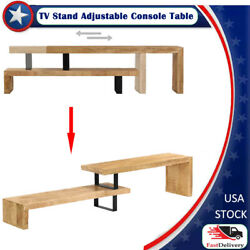 Tv Stand Low Board Sideboard Side Table Adjustable Shelf Console Table Stackable