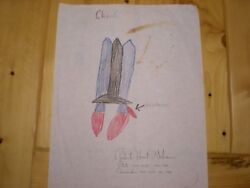 Super Rare Hoot Gibson Nasa Astronaut Signed Childs Challenger Drawing