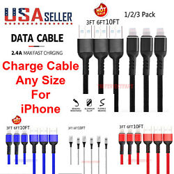 Heavy Duty 8 Pin Charging Cable Cord For Iphone 6 7 8 11 12 Plus Xs Xr Charger